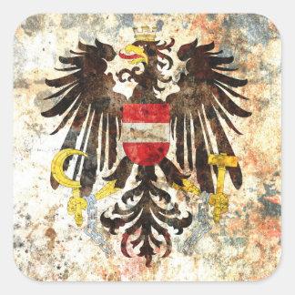 Austrian Crest Square Stickers