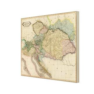 Austrian dominions canvas print