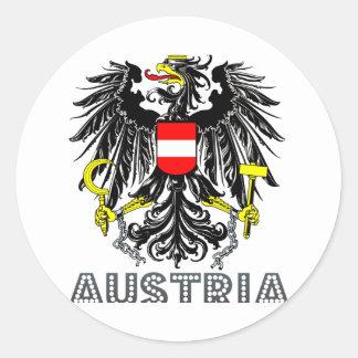 Austrian Emblem Round Stickers