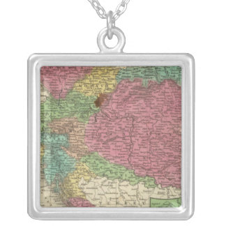 Austrian Empire 5 Silver Plated Necklace