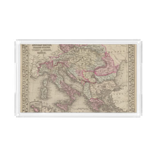 Austrian Empire, Italy, Turkey in Europe, Greece 2 Acrylic Tray
