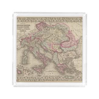 Austrian Empire, Italy, Turkey in Europe, Greece 2 Acrylic Tray