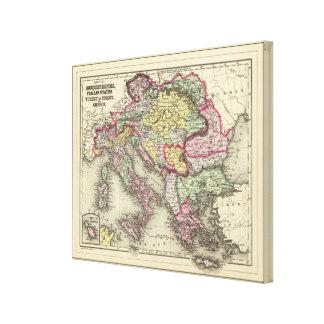 Austrian Empire, Italy, Turkey in Europe, Greece 2 Canvas Print