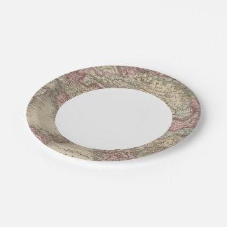 Austrian Empire, Italy, Turkey in Europe, Greece 2 Paper Plate