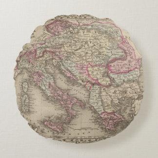 Austrian Empire, Italy, Turkey in Europe, Greece 2 Round Cushion