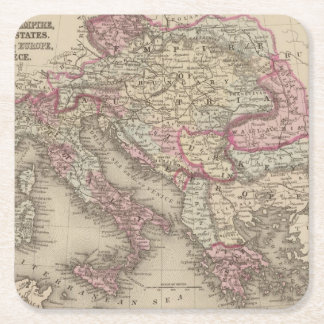 Austrian Empire, Italy, Turkey in Europe, Greece 2 Square Paper Coaster