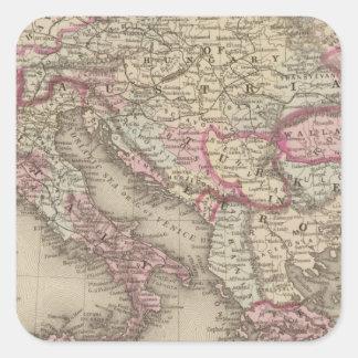 Austrian Empire, Italy, Turkey in Europe, Greece 2 Square Sticker