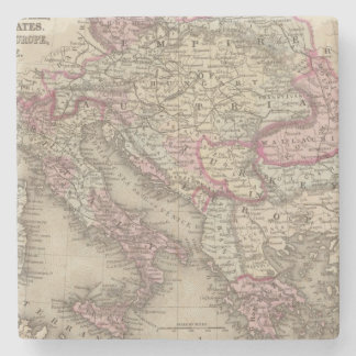 Austrian Empire, Italy, Turkey in Europe, Greece 2 Stone Coaster