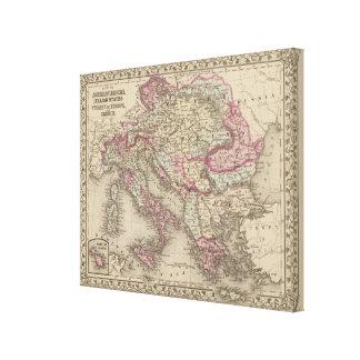 Austrian Empire, Italy, Turkey in Europe, Greece Canvas Print