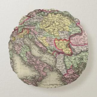 Austrian Empire, Italy, Turkey in Europe, Greece Round Cushion