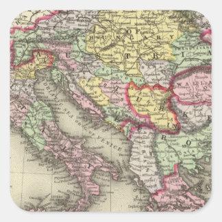 Austrian Empire, Italy, Turkey in Europe, Greece Square Sticker