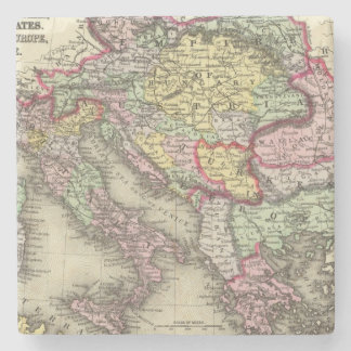 Austrian Empire, Italy, Turkey in Europe, Greece Stone Coaster
