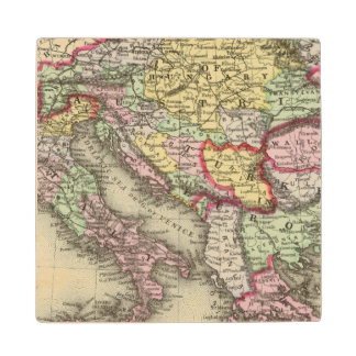 Austrian Empire, Italy, Turkey in Europe, Greece Wood Coaster