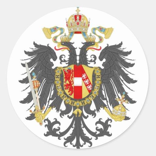Austrian Empire Round Sticker
