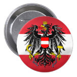 Austrian Flag & Coat of Arms 7.5 Cm Round Badge