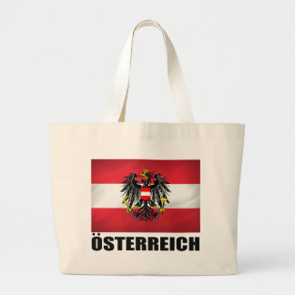 Austrian Flag & Coat of Arms Large Tote Bag