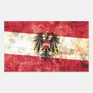 Austrian Flag Rectangle Sticker