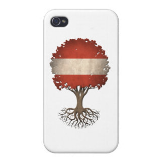 Austrian Flag Tree of Life Customizable iPhone 4/4S Covers