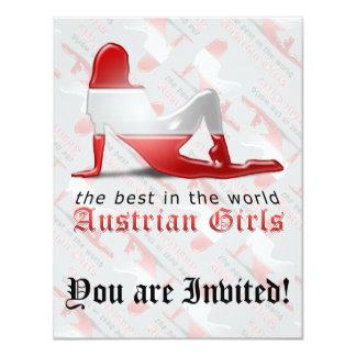 "Austrian Girl Silhouette Flag 4.25"" X 5.5"" Invitation Card"