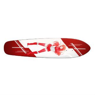 Austrian Manga girl dressed in Flag - Austria Skateboard Deck