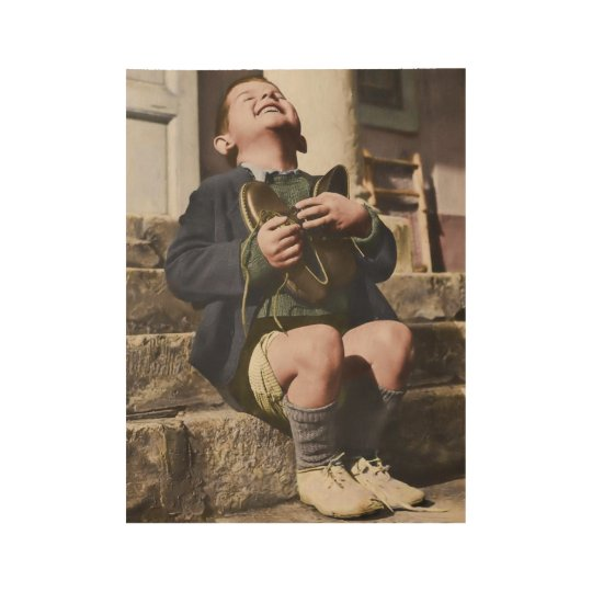 Austrian Orphan with New Shoes Wood Poster
