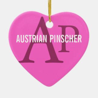 Austrian Pinscher Monogram Christmas Ornaments