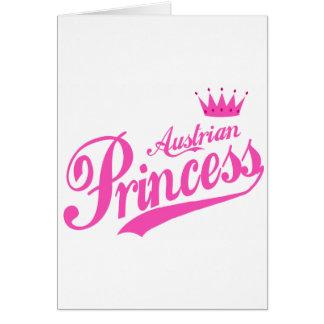 Austrian Princess Greeting Card