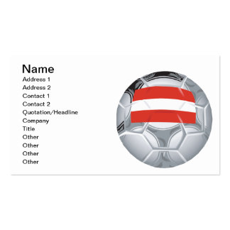 Austrian Soccer Ball Double-Sided Standard Business Cards (Pack Of 100)