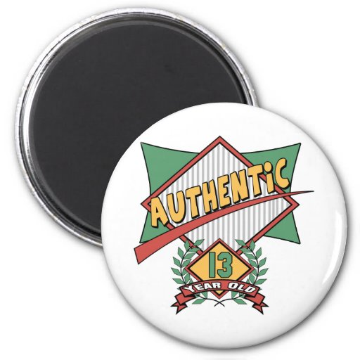 Authentic 13th Birthday Gifts Refrigerator Magnets