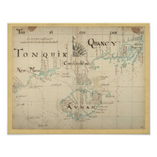 Authentic 1690 Pirate Map - New Larger Size Print