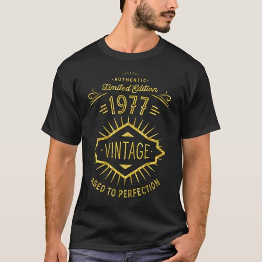 Authentic 1977 Vintage Birthday Party T-Shirt