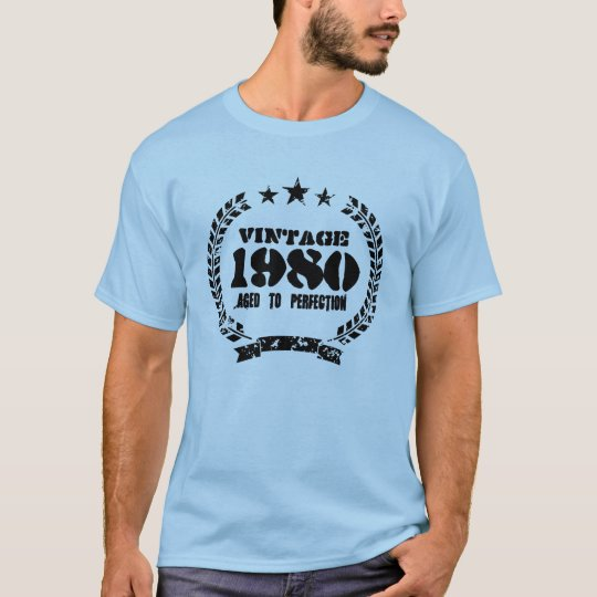 Authentic 1980 Aged to perfection vintage t shirt
