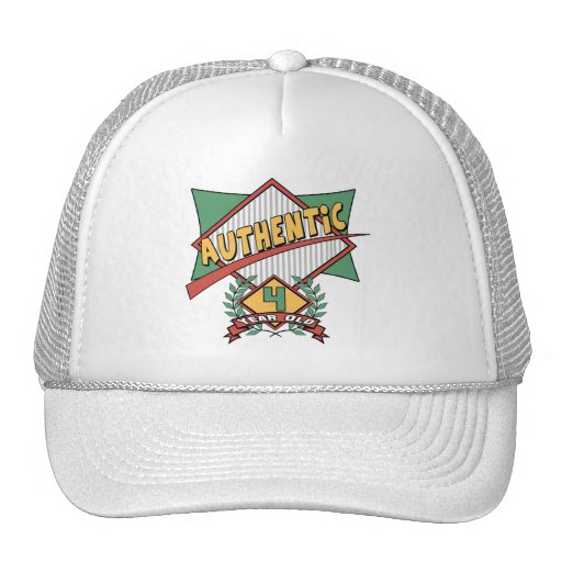 Authentic 4th Birthday Gifts Hat