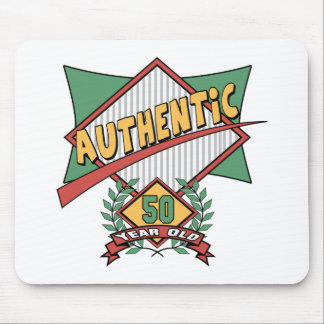 Authentic 50th Birthday Gifts Mousepads