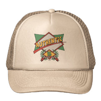 Authentic 5th Birthday Gifts Mesh Hat