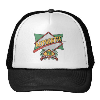 Authentic 70th Birthday Gifts Cap