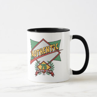 Authentic 75th Birthday Gifts Mug