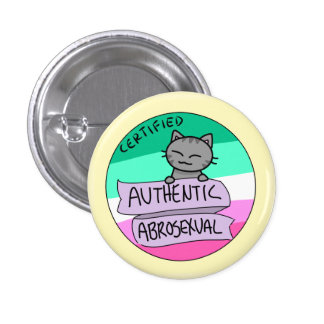 Authentic Abrosexual 3 Cm Round Badge