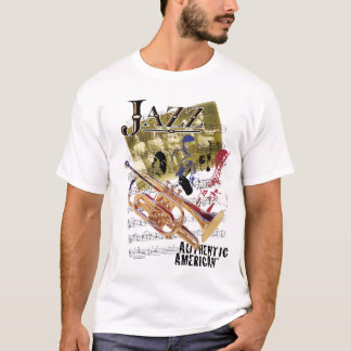 Authentic American Jazz Art T-Shirt