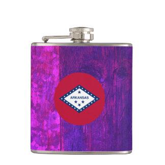 Authentic Arkansan Flag Hip Flasks