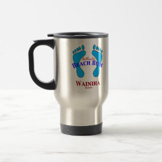 Authentic Beach Bum Wianiha Hawaii Coffee Mugs