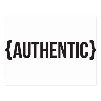 Authentic - Bracketed - Black and White Postcard