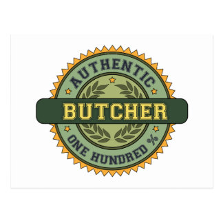 Authentic Butcher Postcard