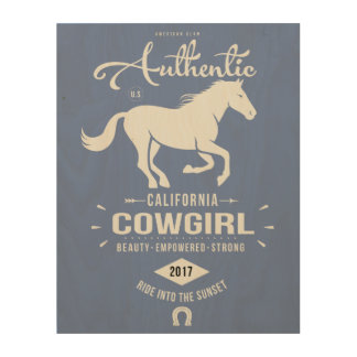 Authentic California Cowgirl Wood Art