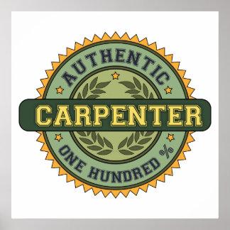 Authentic Carpenter Poster