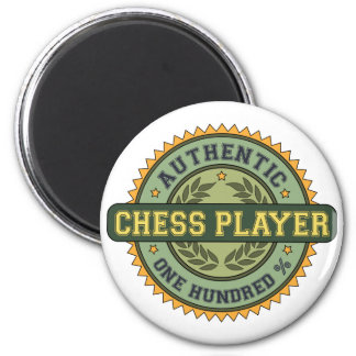 Authentic Chess Player 6 Cm Round Magnet