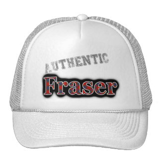 Authentic Clan Fraser Scottish Tartan Name Cap
