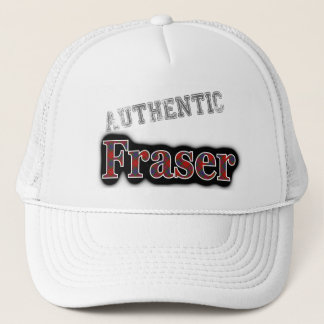 Authentic Clan Fraser Scottish Tartan Name Trucker Hat