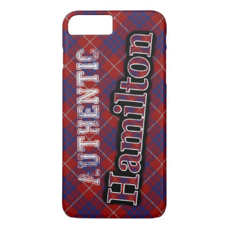 Authentic Clan Hamilton Scottish Tartan Design iPhone 7 Plus Case