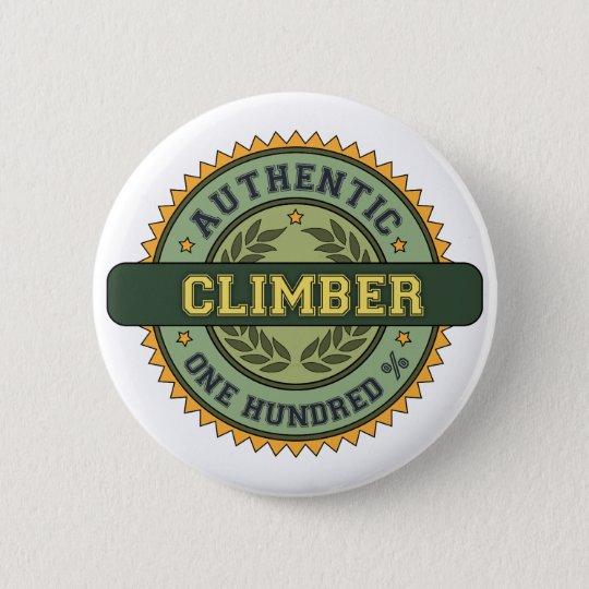 Authentic Climber 6 Cm Round Badge